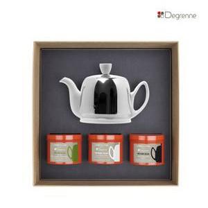 Guy Degrenne Théière & 3 boites à thé