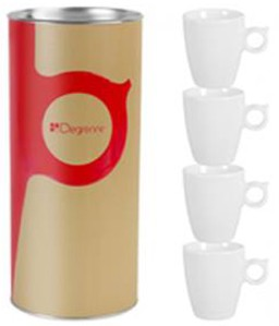 Guy Degrenne Coffret Tube 4 tasses expresso
