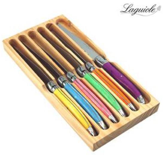 Coffret bois 6 couteaux Laguiole